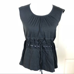 Theory Women's Solid Black Sleeveless Top